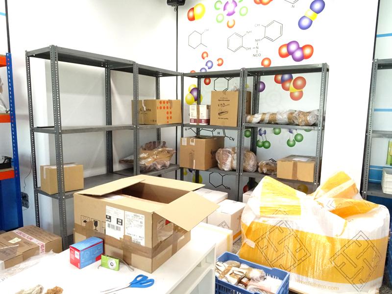 materiales distribuidos según entidades cedentes