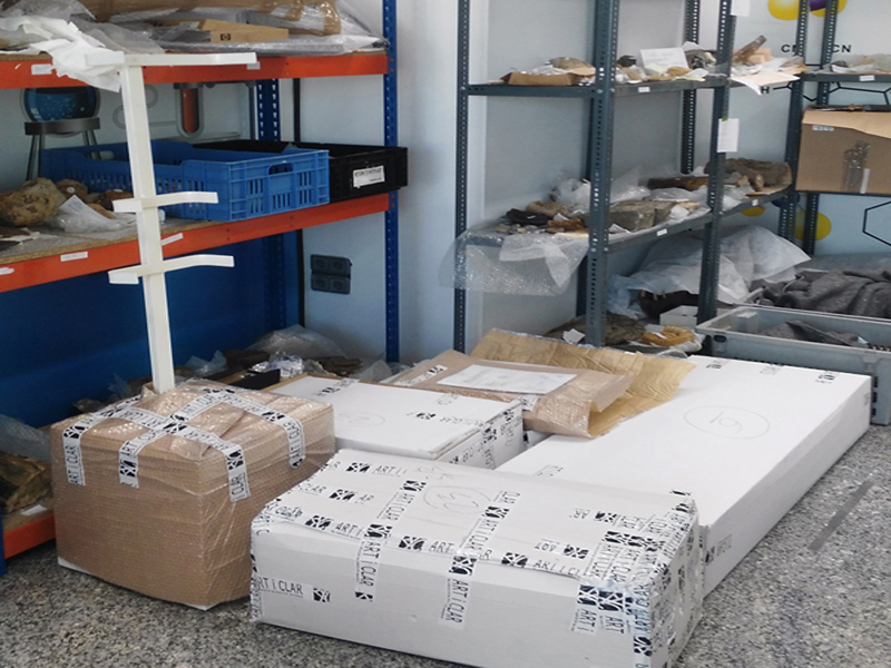 los materiales recibidos se agrupan por entidad cedente